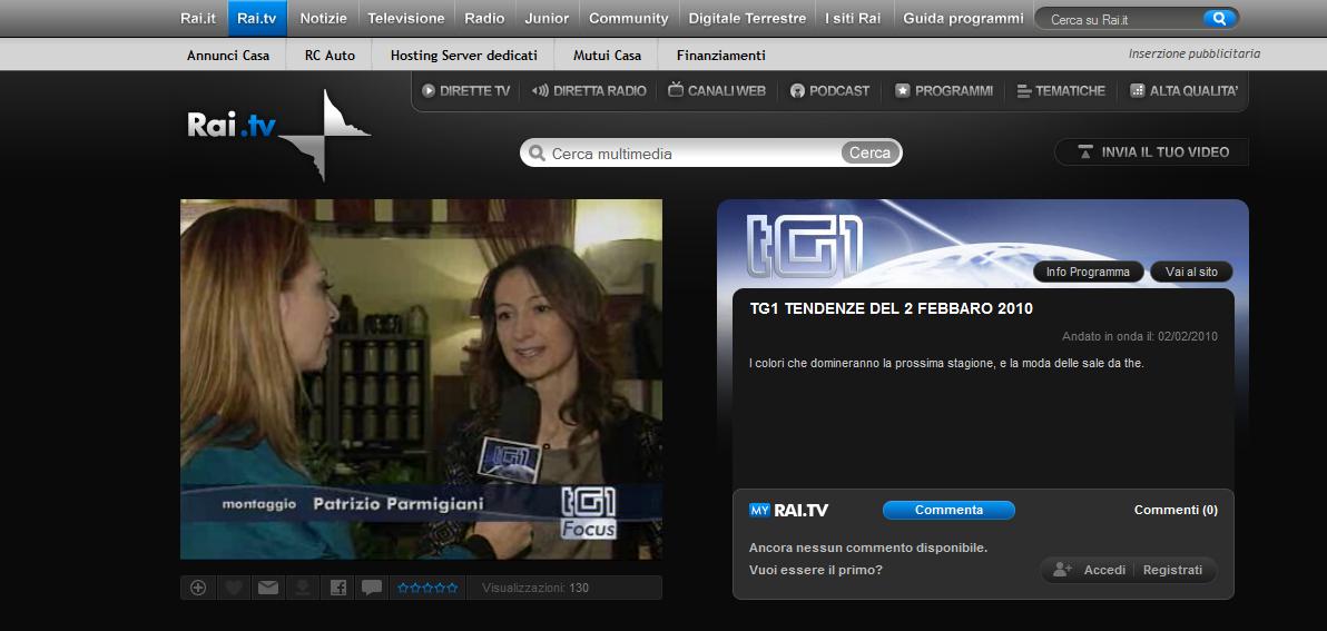 Rai TV, intervista con Francesca Natali
